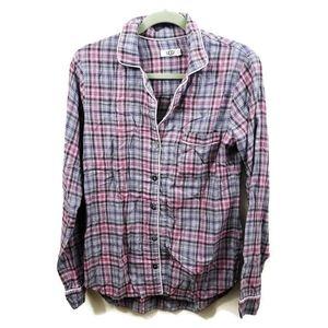 Ugg Plaid Button Front Shirt Pink